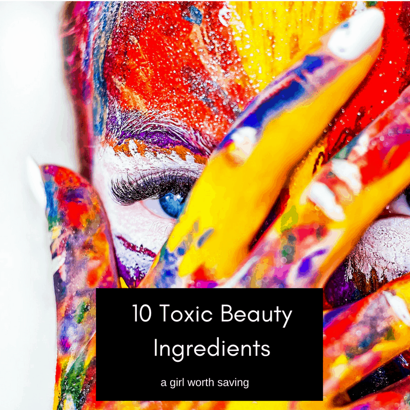 These are 10 toxic beauty ingredients that are found in many cosmetic products. They're hard to avoid if you want to stick to your favourite brands and products, but if you do want to make the switch to natural, chemical-free products, there are now more organic alternatives available than ever.
