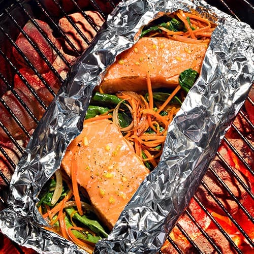 Ginger Sesame Salmon Packets