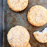 2 Ingredient Banana Coconut Cookies