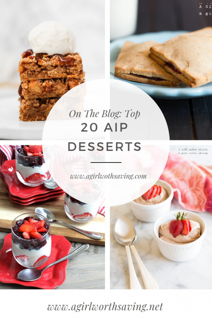 Looking for an AIP dessert that is egg-free, dairy-free, nut-free, seed-free and more? Here are 20 easy desserts that are also vegan!