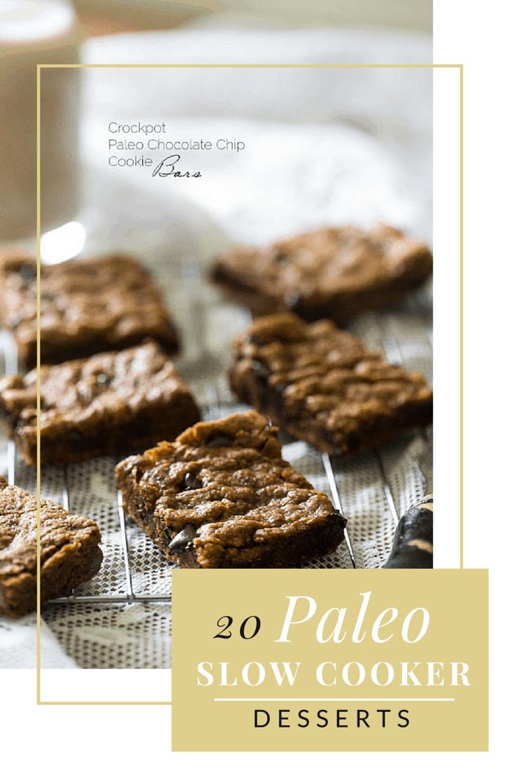 20 paleo slow cooker desserts