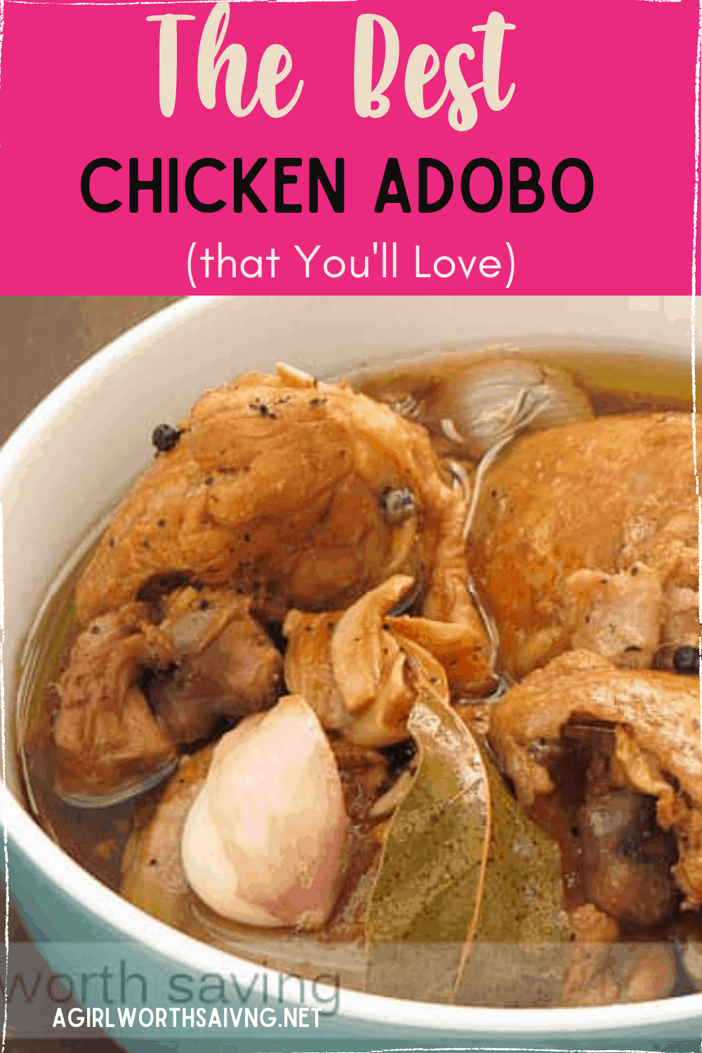 Get ready to love this delicious chicken adobo recipe. It's one of my favorite Filipino chicken adobo recipes that is loaded down with taste and flavor. This is a great recipe that combines chicken and a ton of other amazing ingredients to create a flavor that makes an authentic Filipino dish. My husband LOVES this dish and the flavor that the adobo sauce adds. It's also an amazing Paleo Adobo Chicken dish.