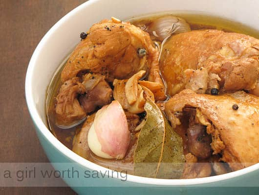 Chicken Adobo recipe in a bowl