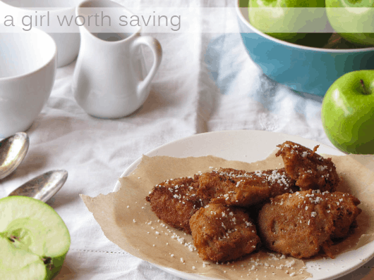 Grain free Apple Fritters