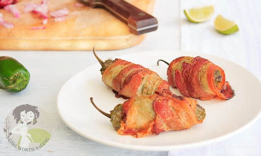 Bacon Wrapped Chorizo Lime Jalapeno Poppers
