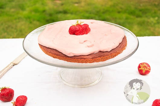 Paleo Strawberry Cake