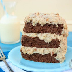 GERMAN CHOCOLATE CAKE FROSTING PALEO DESSERT