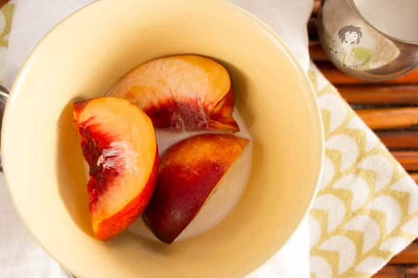 Nectarines and  Cream