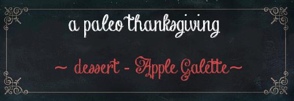 apple galette gluten free paleo