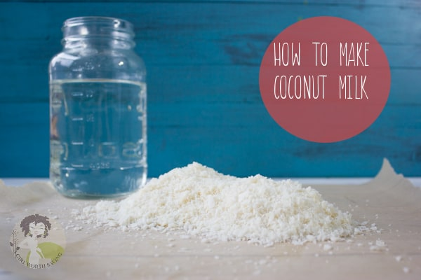 HOW TO MAKE COCONUT MILK FROM DRIED COCONUT