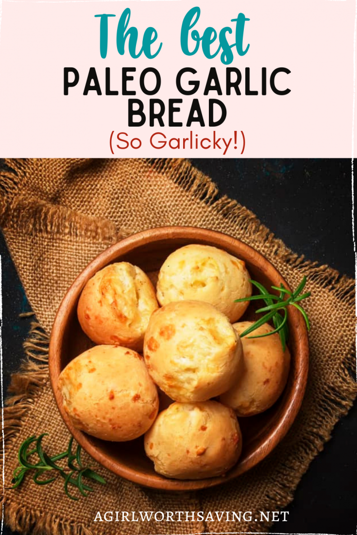 This paleo garlic bread is a tapioca bread recipe that you and your family will love! You can easily shape the dough into garlic knots or rolls.
