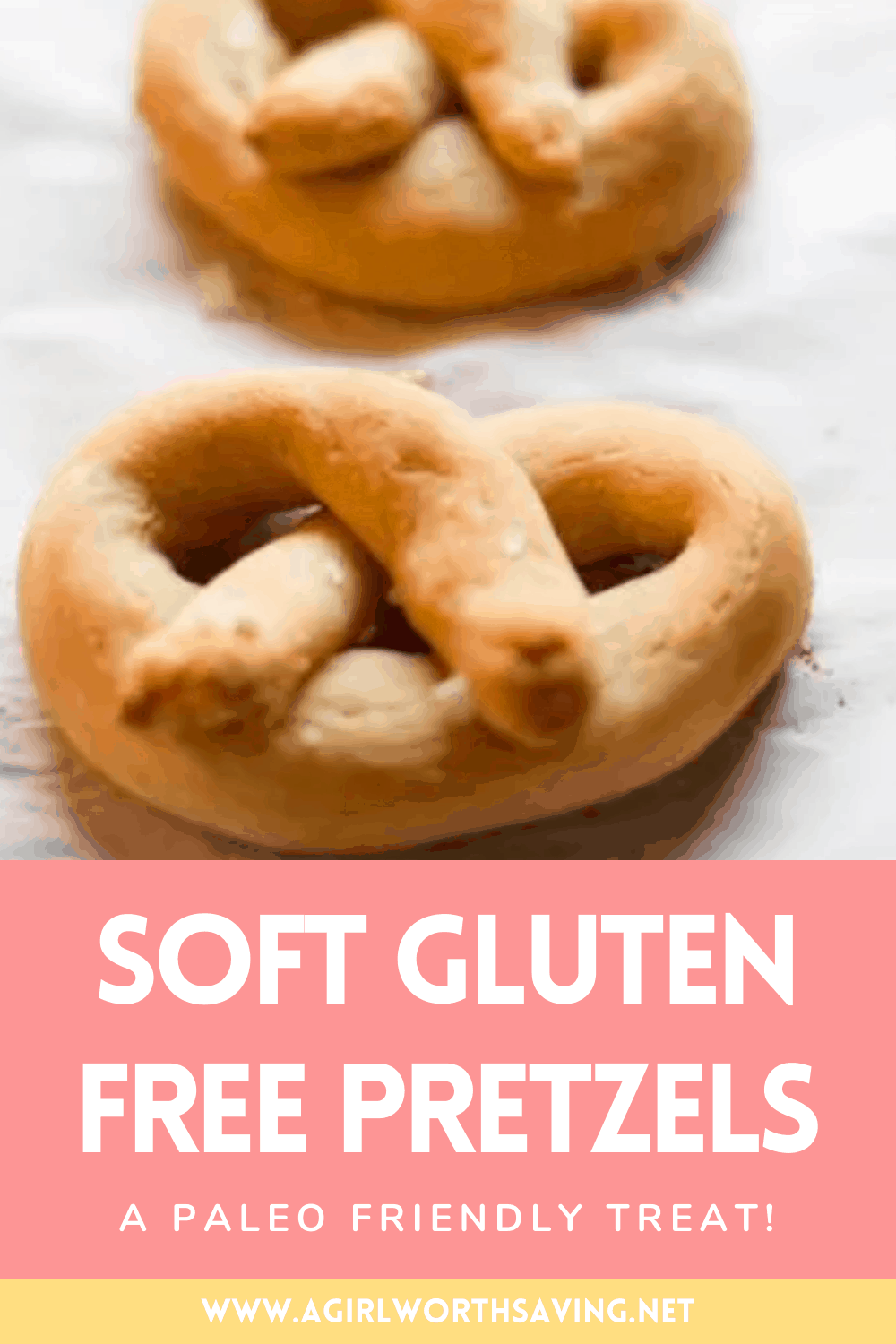 The perfect Gluten Free Pretzels that are soft, just like the ones at the ballpark! Grain-free, it's made with Tapioca flour and coconut flour and is yeast-free.