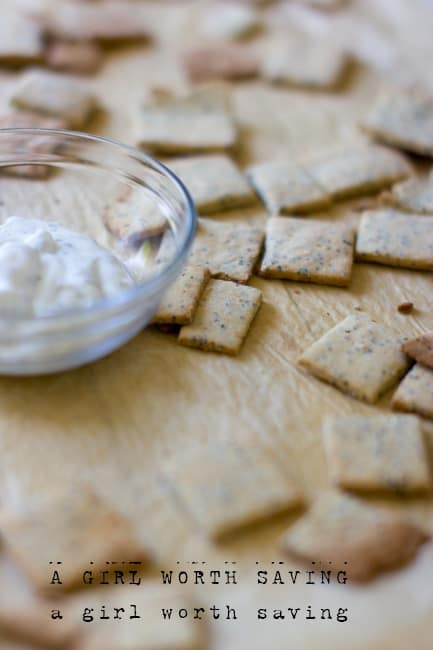 Paleo Garlic Crackers
