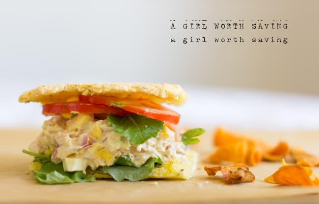 paleo tuna fish sandwhich