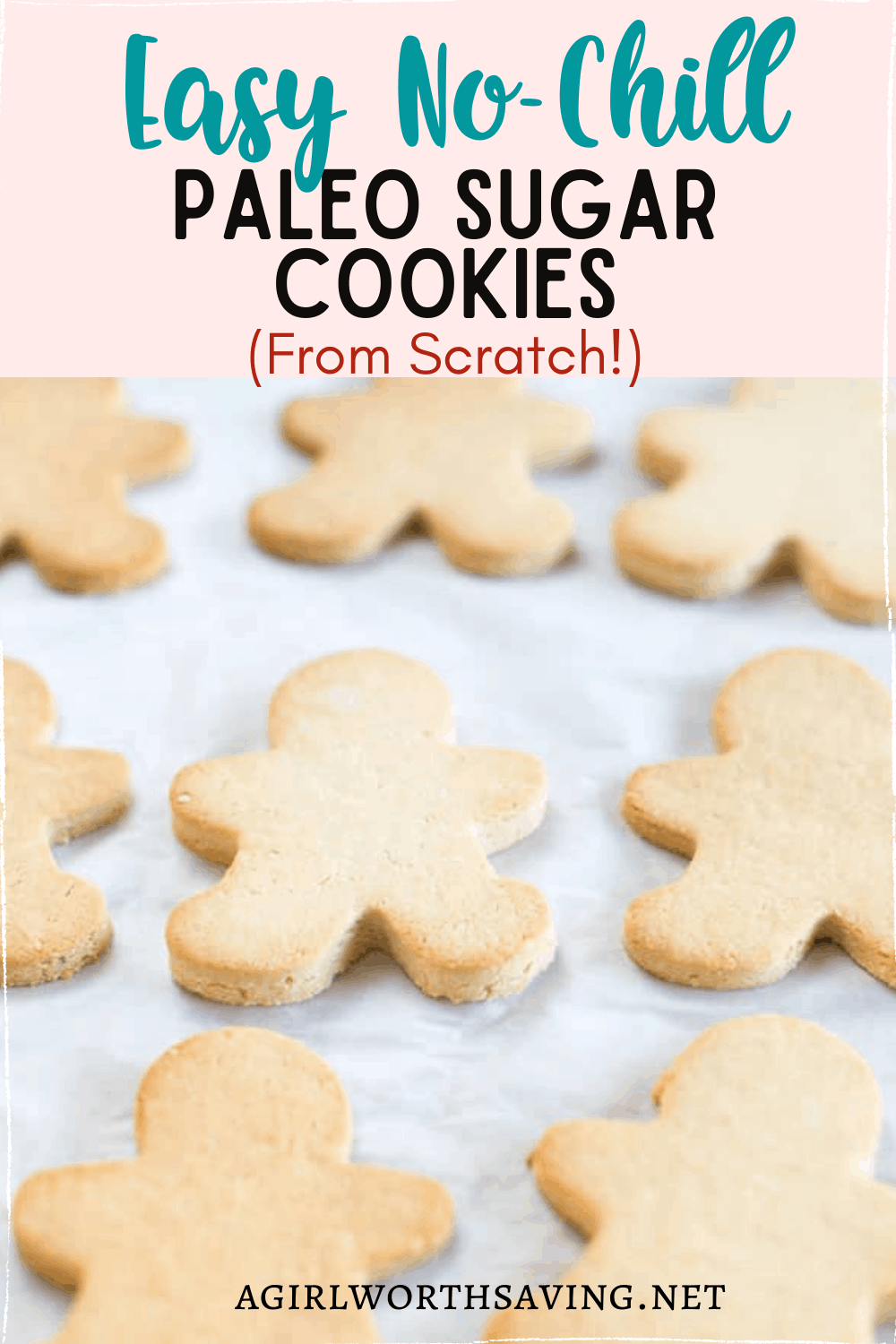 This easy no-chill paleo sugar cookies are the perfect holiday cookie! They're dairy-free but taste buttery and you can cut them out into many fun holiday shapes.