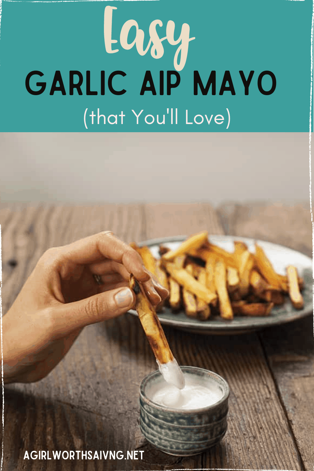 This easy Garlic AIP Mayo recipe that is creamy and delicious! It's perfect on a lettuce wrapped sandwich or for dip for fries.