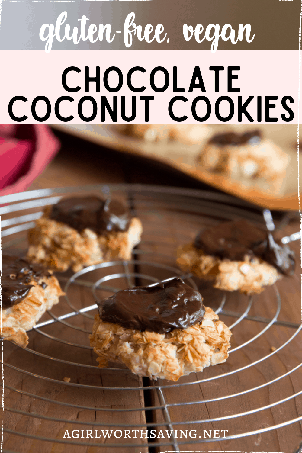 Coconut lovers will not be able to resist the flaky coconut and dark chocolate in these Chocolate coconut cookies.  They are easy and delicious.