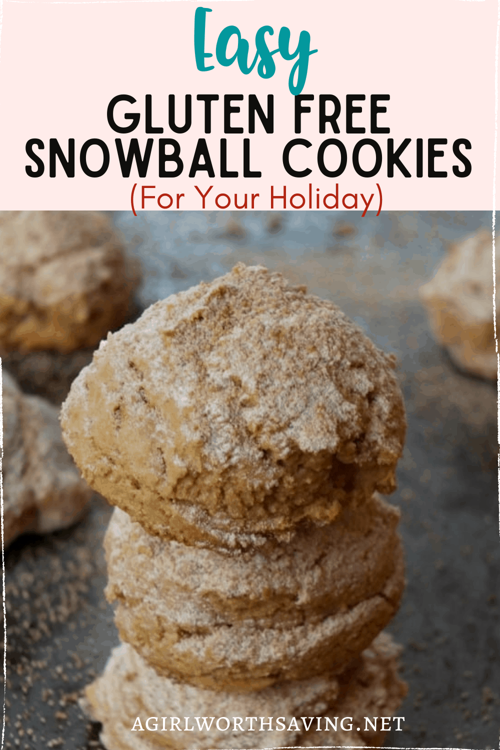 Santa will love these snacking on these gluten free snowball cookies. Made with pecans, they are covered in a delicious coconut powdered sugar that everyone will love.