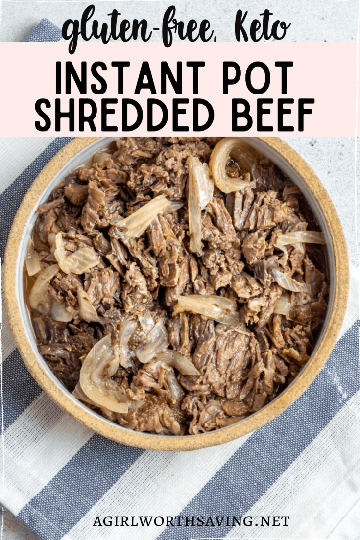Looking for a quick, easy recipe you can make in no time? This instant pot shredded beef recipe will impress you with how many recipes you can make out of it!