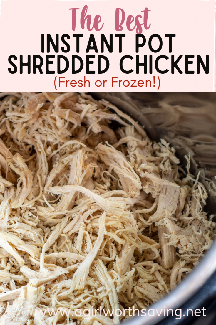 Fresh or frozen, warm or stored, boneless or bone-in, this instant pot shredded chicken recipe is just what you need to never worry about prepping a meal!