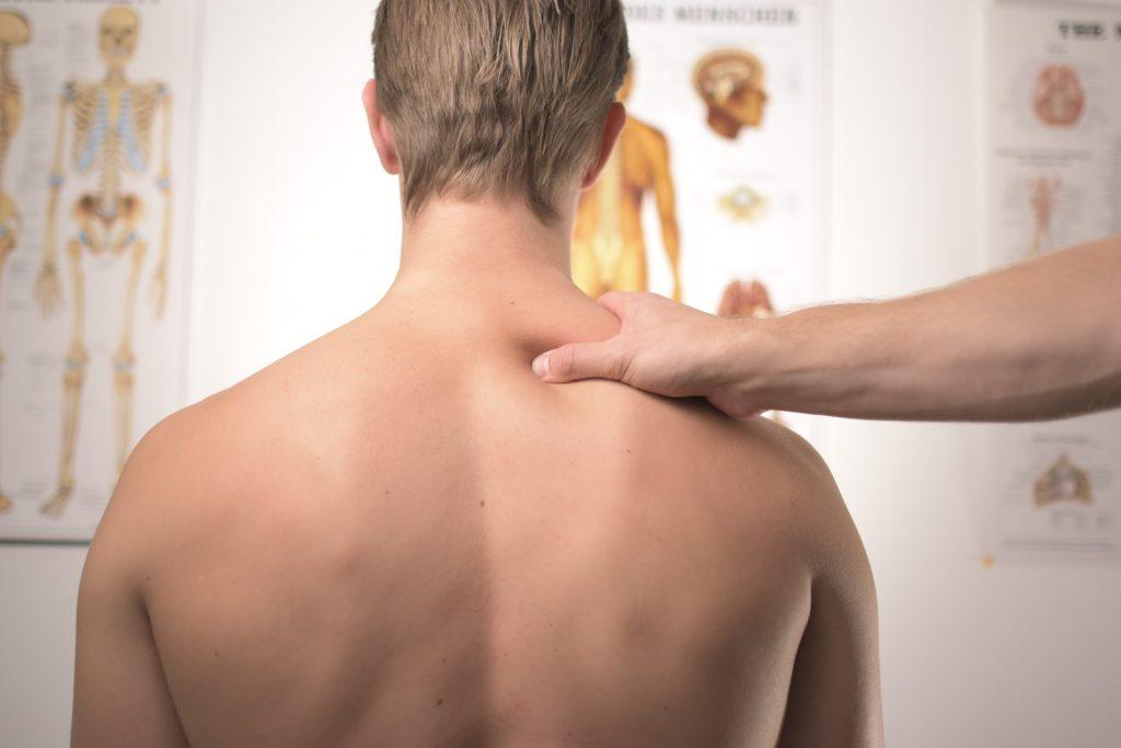 man receiving chiropractic care