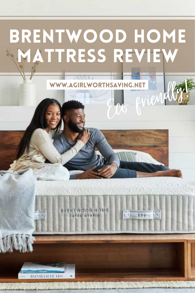 Brentwood Home Mattress with text overlay