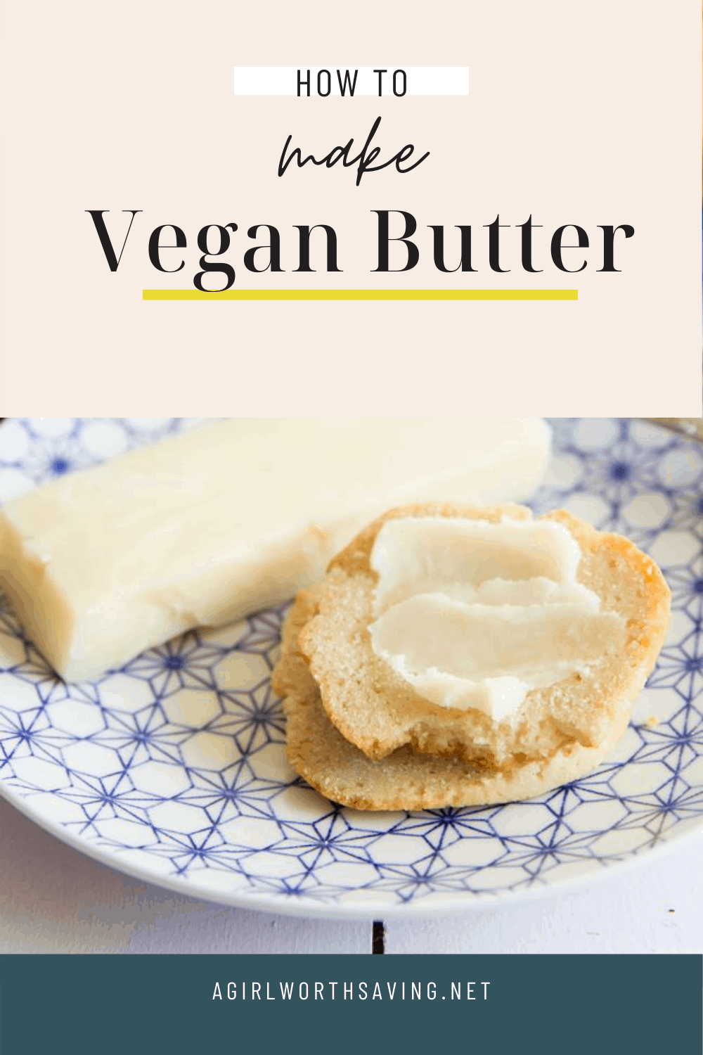 Making homemade butter was never easier. Learn how to make vegan butter that is spreadable and tastes like the butter you use to eat without any chemical ingredients found in store bought brands.