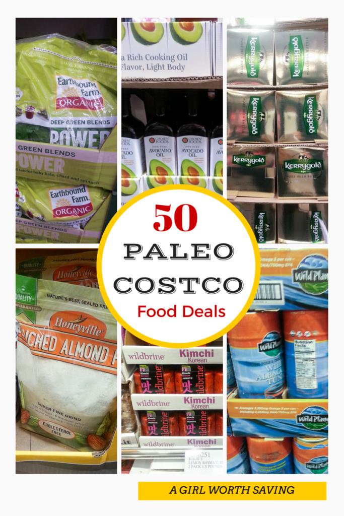paleo costco foods with text overlay