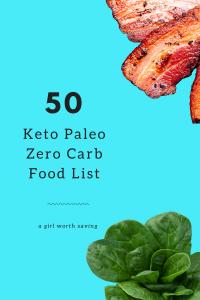 50 Keto Paleo Zero Carb Food List