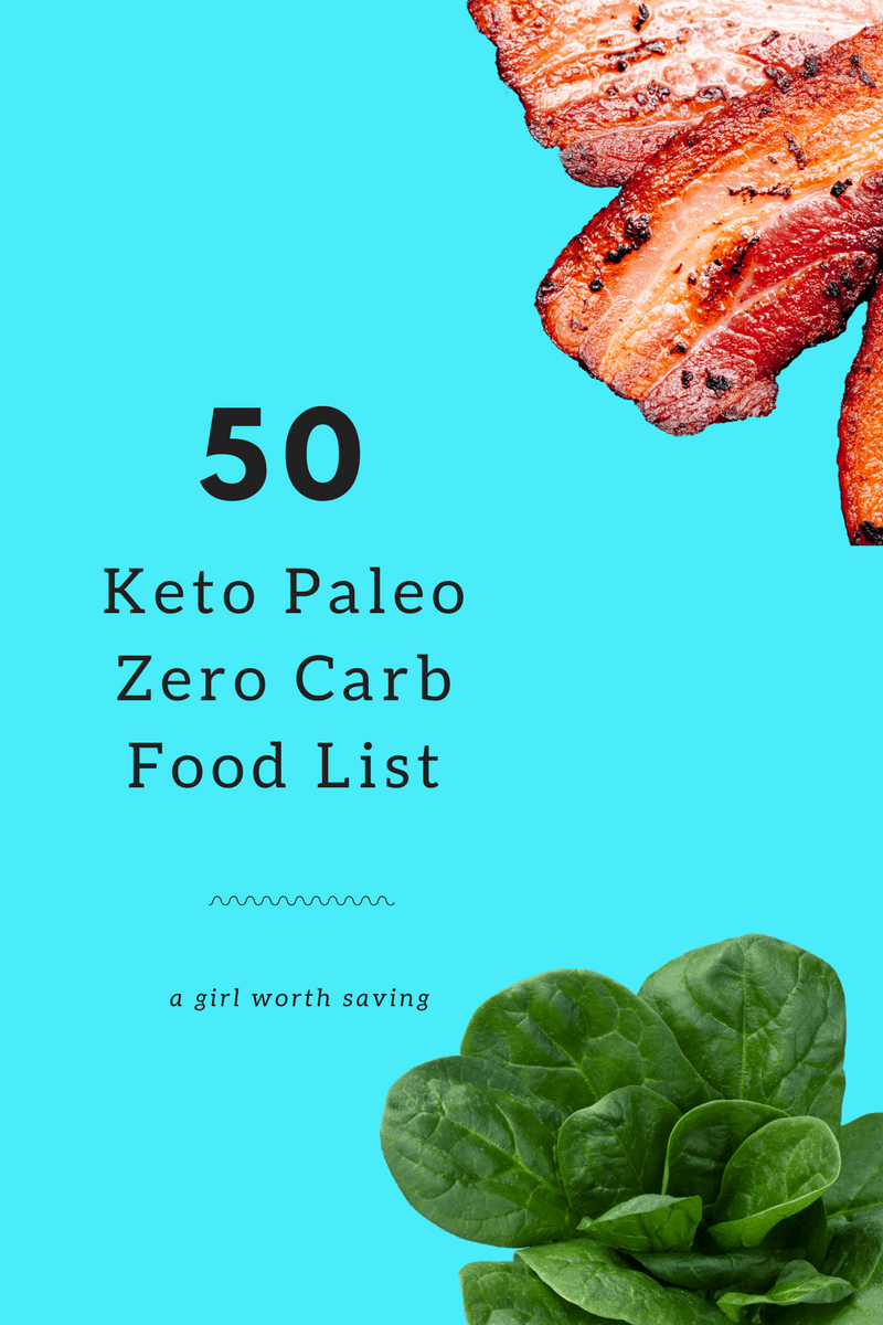 50 Keto Paleo Zero Carb Food List