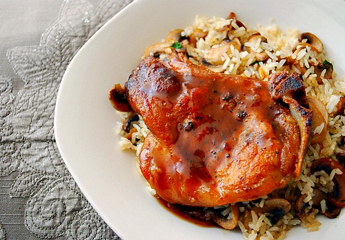 Honey & Spice Glazed Pork Chops