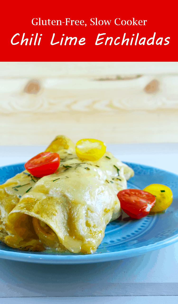 Gluten-free slow cooker chili lime enchiladas - A Girl Worth Saving