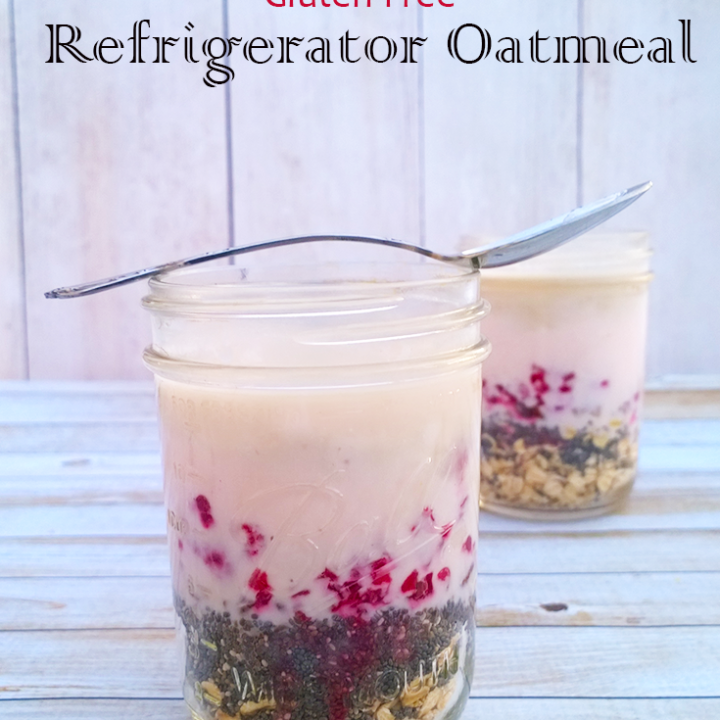 Probiotic Raspberry Pecan Refrigerator Oatmeal