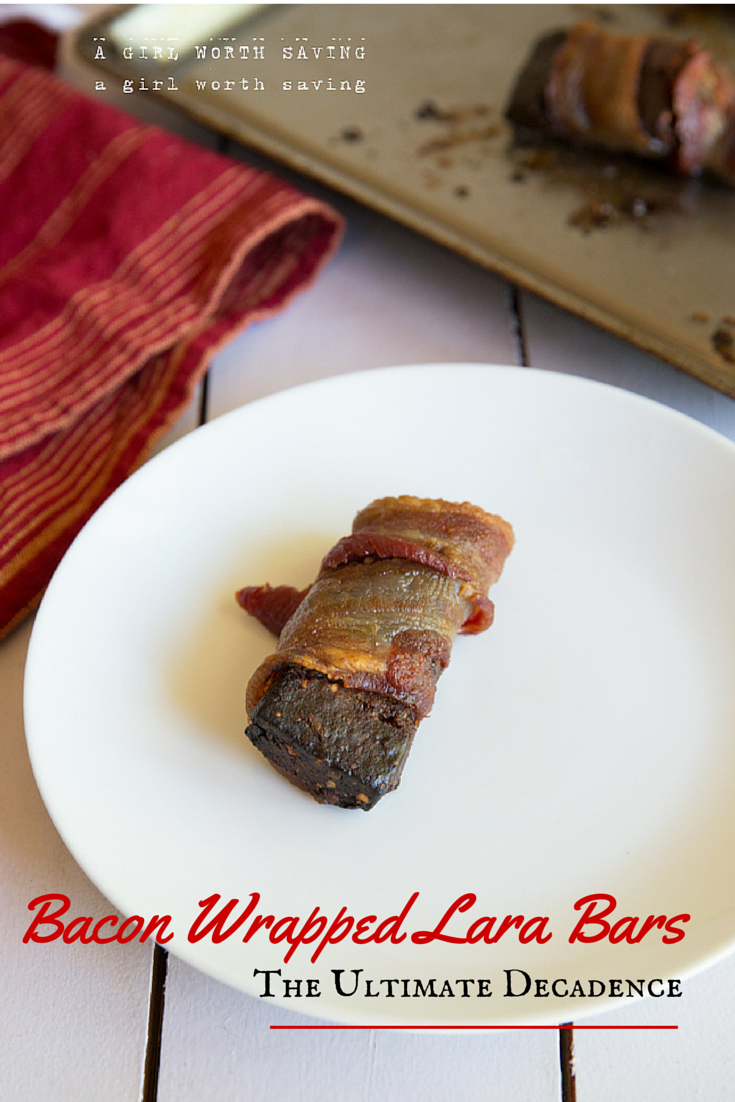 Bacon Wrapped Lara Bars