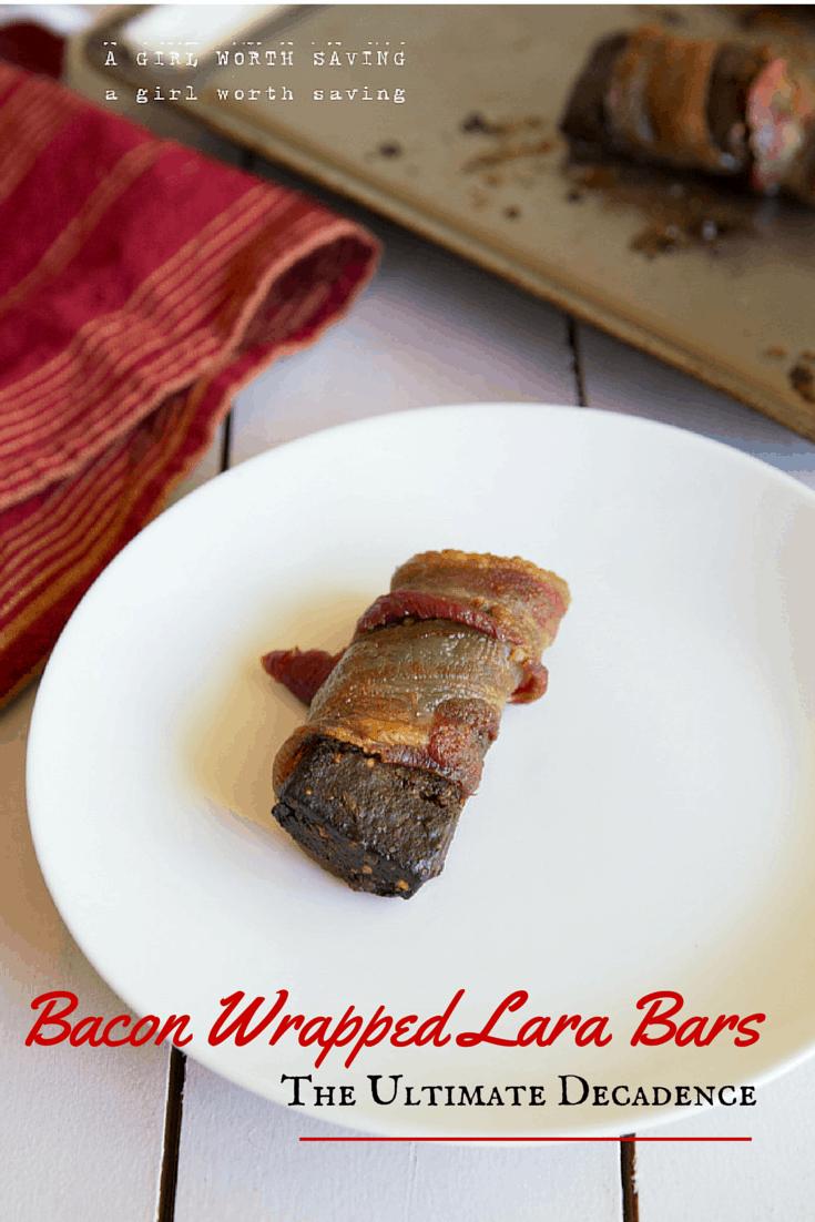 Bacon Wrapped Lara Bars