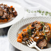 One-Pot Braised Beef Roast with Carrot Mash & Olives {AIP, Paleo}