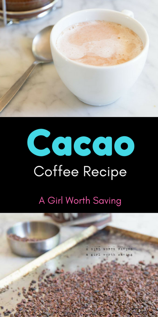 adding cacao to coffee