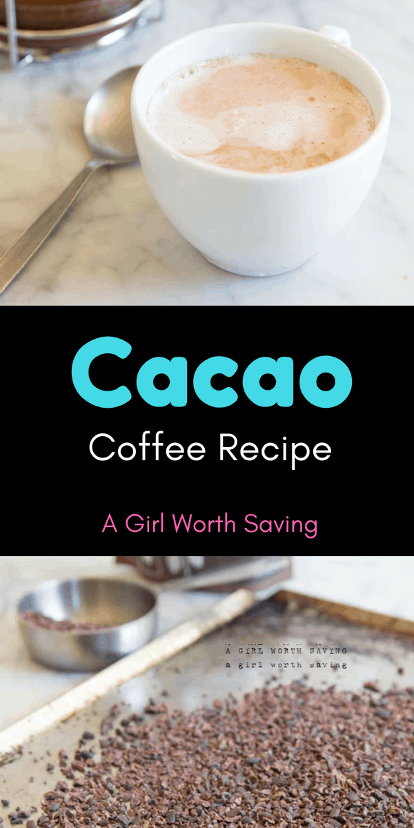 You'll never believe how simple it is to make cacao coffee! Not only does it have a fraction of the caffeine that coffee is, it tastes just like hot chocolate!