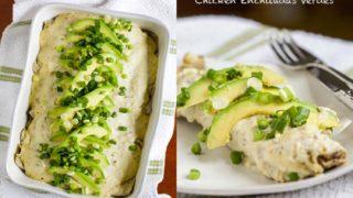 Creamy Paleo Chicken Enchiladas Verdes (Dairy-free)