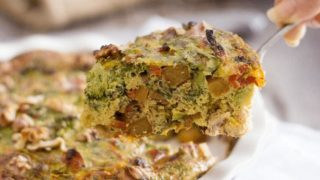 Chicken Broccoli Frittata with Turnips, Sundried Tomatoes and Walnuts