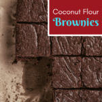 Coconut Flour chocolate brownies paleo
