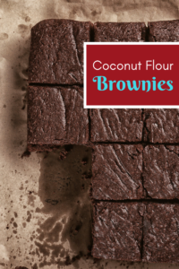Coconut Flour chocolate brownies paleo
