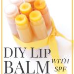 DIY Lip balm with spf