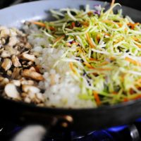 Asian Ground Beef Broccoli Slaw