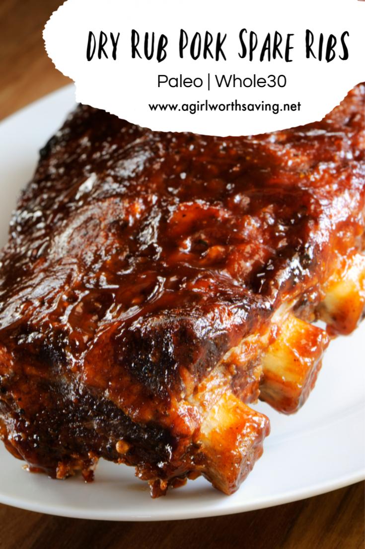Dry Rub Pork Spare Ribs Recipe
