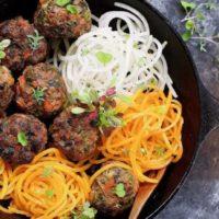Paleo Asian Beef Meatballs - Baked !