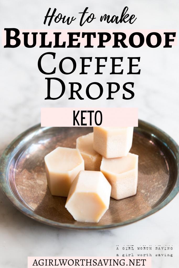 Bulletproof coffee drops on a plate