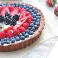 Berry Tart with Dairy-Free Vanilla Bean Custard