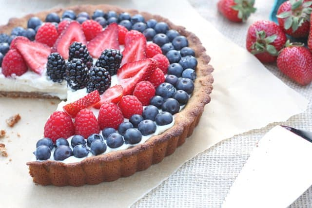 Berry Tart with Dairy-Free Vanilla Bean Custard