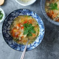 Turkey Vegetable Egg Drop Soup